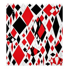 Distorted Diamonds In Black & Red Shower Curtain 66  X 72  (large) by StuffOrSomething