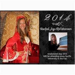 Rachel Grad Announcemnet By Stacey   5  X 7  Photo Cards   Gg1wz1yitzfx   Www Artscow Com 7 x5 Photo Card - 2