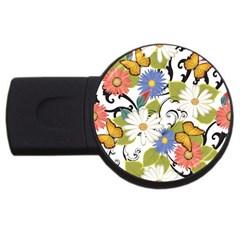 Floral Fantasy 4GB USB Flash Drive (Round) by R1111B