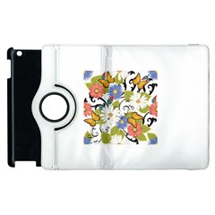 Floral Fantasy Apple Ipad 3/4 Flip 360 Case by R1111B