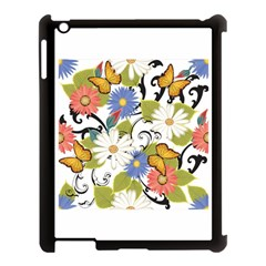 Floral Fantasy Apple Ipad 3/4 Case (black) by R1111B