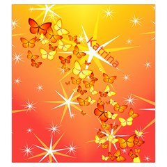 Orange Butterfly Drawstring Pouch (large) By Kim Blair   Drawstring Pouch (large)   Ltad0fx1p4k1   Www Artscow Com Front