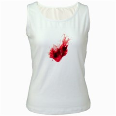 Spit Blood Heart Shape Women s Tank Top (white) by dflcprints