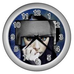 Fibro Brain Wall Clock (silver) by FunWithFibro