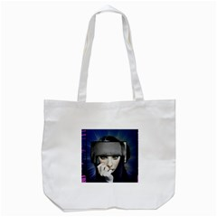 Fibro Brain Tote Bag (white) by FunWithFibro