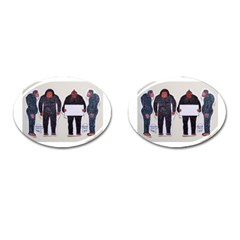 4 Yeti,1 Text Board  Cufflinks (oval) by creationtruth