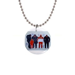Neanderthal & 4 Big Friends, Button Necklace