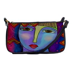 Funky Abstract Art Small Shoulder Bag Evening Bag by paintedpurses