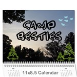 camp besties - Wall Calendar 11  x 8.5  (12-Months)