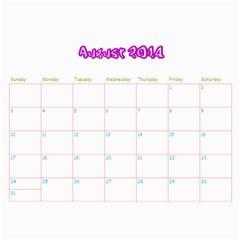 Camp Besties By Ahuva   Wall Calendar 11  X 8 5  (12 Months)   Fetpnua50k5c   Www Artscow Com Aug 2014