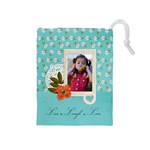 Drawstring Pouch (M): Live Laugh Love - Drawstring Pouch (Medium)