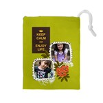 Drawstring Pouch: (L) Keep Calm - Drawstring Pouch (Large)
