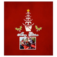 Drawstring Pouch: (l) Merry Christmas By Jennyl   Drawstring Pouch (large)   P467xvpx11x7   Www Artscow Com Front