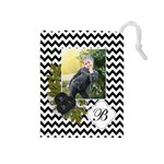 Drawstring Pouch (M): Chevron Black - Drawstring Pouch (Medium)