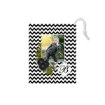Drawstring Pouch (S) : Chevron Black - Drawstring Pouch (Small)