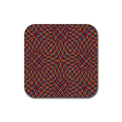 Trippy Tartan Drink Coaster (square) by SaraThePixelPixie
