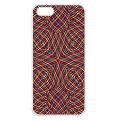Trippy Tartan Apple Iphone 5 Seamless Case (white) by SaraThePixelPixie