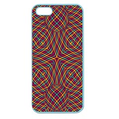 Trippy Tartan Apple Seamless Iphone 5 Case (color) by SaraThePixelPixie