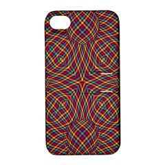 Trippy Tartan Apple Iphone 4/4s Hardshell Case With Stand by SaraThePixelPixie