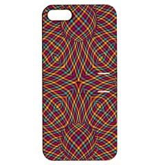 Trippy Tartan Apple Iphone 5 Hardshell Case With Stand by SaraThePixelPixie