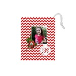Drawstring Pouch (S) : Chevron Red - Drawstring Pouch (Small)
