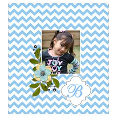 Drawstring Pouch (l): Chevron Blue By Jennyl   Drawstring Pouch (large)   Cpio68rycujt   Www Artscow Com Front