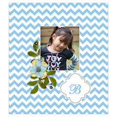 Drawstring Pouch (m): Chevron Blue By Jennyl   Drawstring Pouch (medium)   311fyboqsxdg   Www Artscow Com Back