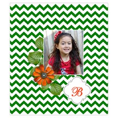 Drawstring Pouch (s) : Chevron Green By Jennyl Front