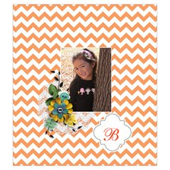 Drawstring Pouch (m): Chevron Orange By Jennyl   Drawstring Pouch (medium)   35x6eg3mqq3s   Www Artscow Com Front