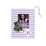 Drawstring Pouch (M): Chevron Violet - Drawstring Pouch (Medium)