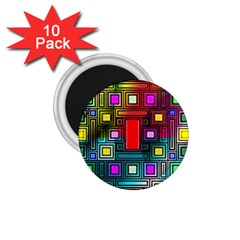 Abstract Modern 1 75  Button Magnet (10 Pack) by StuffOrSomething