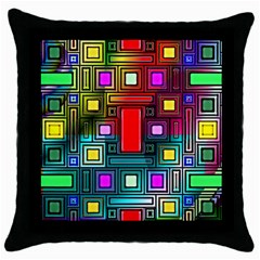 Abstract Modern Black Throw Pillow Case by StuffOrSomething