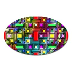 Abstract Modern Magnet (oval) by StuffOrSomething