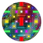 Abstract Modern Magnet 5  (Round) Front