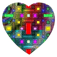 Abstract Modern Jigsaw Puzzle (heart) by StuffOrSomething