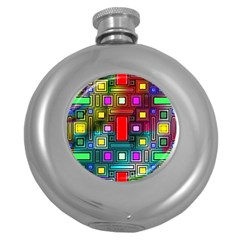 Abstract Modern Hip Flask (round) by StuffOrSomething