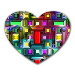 Abstract Modern Mouse Pad (heart) by StuffOrSomething