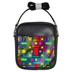 Abstract Modern Girl s Sling Bag by StuffOrSomething