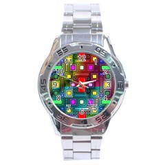 Abstract Modern Stainless Steel Watch by StuffOrSomething