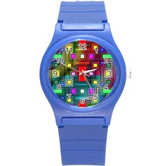Abstract Modern Plastic Sport Watch (small) by StuffOrSomething