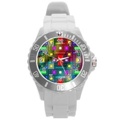Abstract Modern Plastic Sport Watch (large) by StuffOrSomething