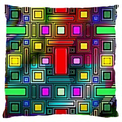 Abstract Modern Large Cushion Case (two Sided)  by StuffOrSomething