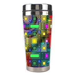 Abstract Modern Stainless Steel Travel Tumbler by StuffOrSomething