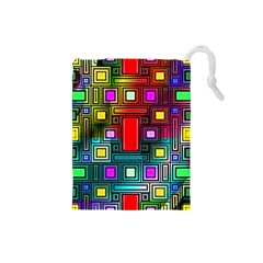 Abstract Modern Drawstring Pouch (small)