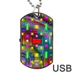 Abstract Modern Dog Tag Usb Flash Drive by StuffOrSomething