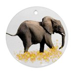 Elephant-Sparkle 800x650 Ornament (Round)