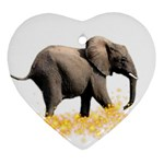 Elephant-Sparkle 800x650 Ornament (Heart)