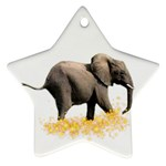 Elephant-Sparkle 800x650 Ornament (Star)