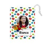 Drawstring Pouch (L): School Stuff - Drawstring Pouch (Large)