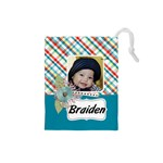 Drawstring Pouch (S) : Plaid - Drawstring Pouch (Small)